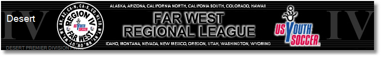 2013 Desert Premier Division Far West Regional League banner